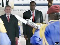 Luis Inacio Lula da Silva, presidente de Brasil, y Blaise Compaore, presidente de Burkina Faso.
