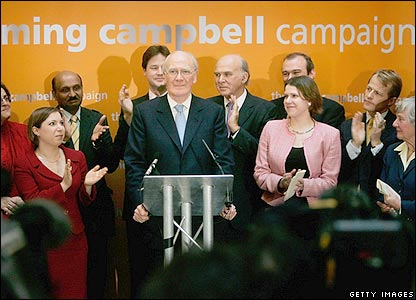 Sir Menzies Campbell and his supporters