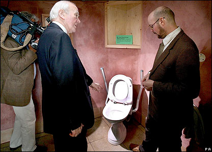 Sir Menzies Campbell and a toilet