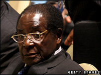 Zimbabwe President Robert Mugabe at the UN General Assembly, 25 September, 2007