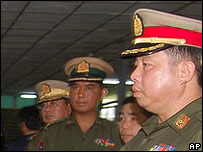 Unidentified Burmese military officials