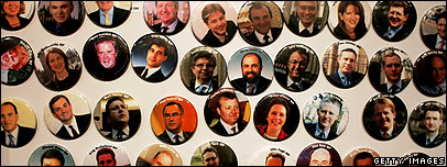 Fridge magnets with Lib Dem MPs on, as sold at the party conference
