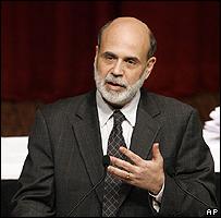 Ben Bernanke, director de la Reserva Federal, durante su discurso ante el Club Económico de  Nueva York