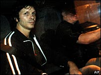 Bertrand Cantat leaving prison