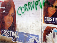 Cristina Kirchner posters in Rio Gallegos