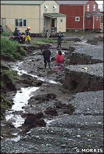 Rain damaged street (Image: Glenn Morris)