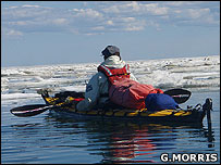 Kayaking through the Arctic ice (Image: Glenn Morris)