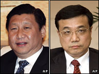 Xi Jinping (L) and Li Keqiang