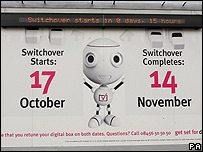 Digital switchover countdown poster