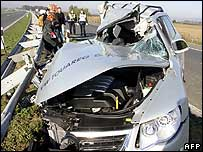 Tose Proeski's smashed car