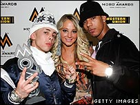 N Dubz at the Mobo Awards