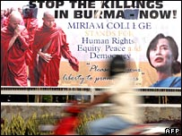 Burma protest poster