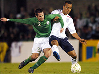 Gabriel Agbonlahor (right) and Eddie Nolan