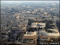 Aerial view of Jerusalem
