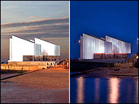 The new-look design for the proposed Turner Contemporary Gallery (from David Chipperfield Architects)