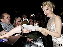 Kylie Minogue with fans