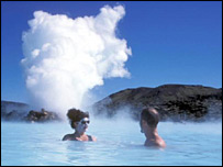 The Blue Lagoon geothermal spa near Reykjavik