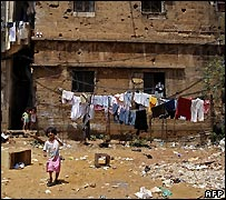 Palestinian refugees displaced from Nahr al-Bared to Shatila camp, Beirut