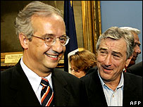 Walter Veltroni and Robert de Niro