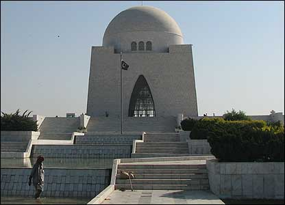Mausoleum to the founder of the Pakistan,  Mohammed Ali Jinnah.