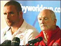 England captain Phil Vickery and coach Brian Ashton