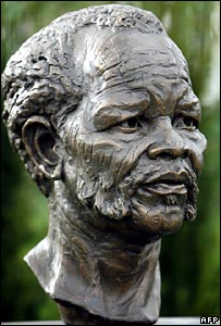 A bust of the late African National Congress (ANC) President Oliver Reginald Tambo