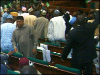 Rowdy scenes in the House of Representatives