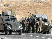 حشود تركية قرب الحدود العراقية