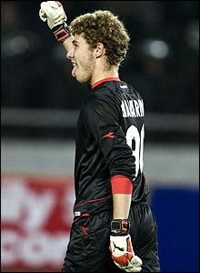 Georgia goalkeeper Giorgi Makaridze