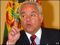Gonzalo Sanchez de Lozada in a file photo from 2003