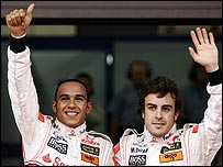 Lewis Hamilton's relationship with team-mate Fernando Alonso has rapidly deteriorated