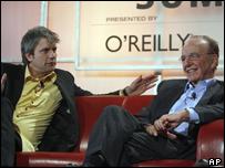 Rupert Murdoch (right) and Chris DeWolfe