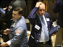 Trader on New York Stock Exchange floor