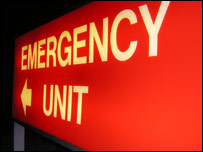 Emergency unit at University Hospital Wales, Cardiff