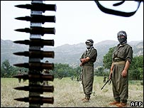 PKK rebels in northern Iraq