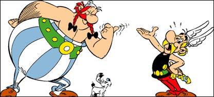 Asterix, Obelix and Dogmatix - copyright Les Editions Albert Rene/Goscinny-Uderzo