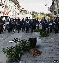 Riot police in Bern