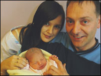 Elizabeth and Anthony Jones with baby Emily (pic: Glamorgan Gazette)