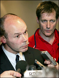 Clive Woodward and Alastair Campbell