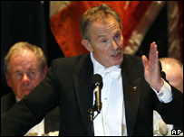 Tony Blair at the 62nd annual Alfred E Smith Memorial Foundation Dinner in New York