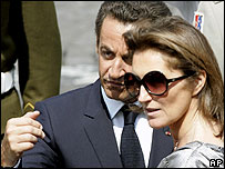 Nicolas and Cecilia Sarkozy on Bastille Day