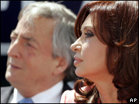 Cristina Fern�ndez y N�stor Kirchner
