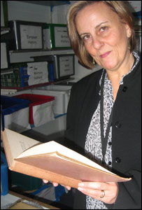 Jill Whittingham with the book
