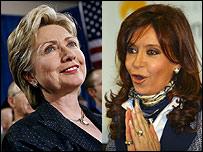 Cristina Fern�ndez de Kirchner y Hilary Rhodam Clinton
