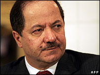 Massoud Barzani, president of the northern region of Iraq