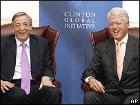 Nestor Kirchner y BIll Clinton.