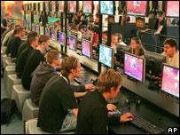 Young men playing games, AP