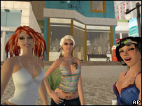 Screenshot from Second Life, AP