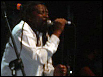 Lucky Dube performing in London (Photo: Frederica Boswell)