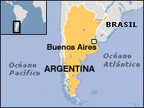 Mapa de Argentina.